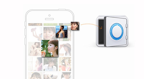 how to make a private photo album iphone