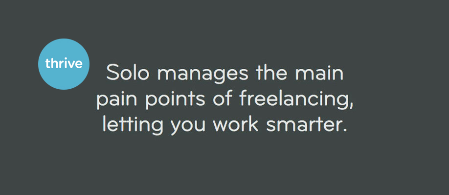 Solo - The beautiful business management application for creative freelancers.